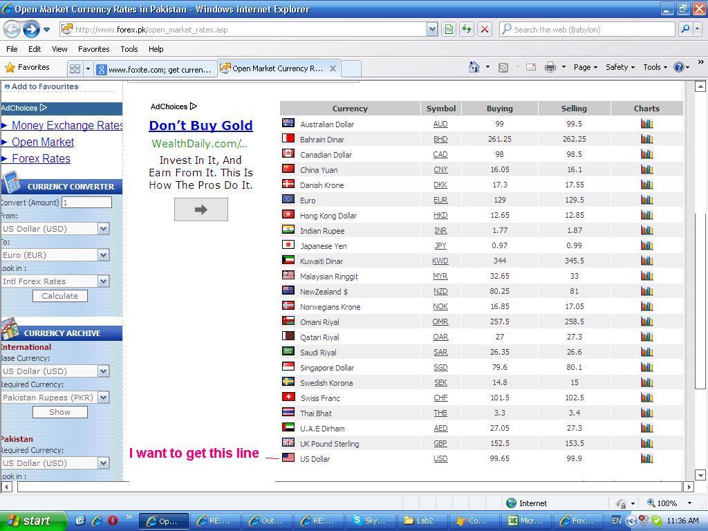 Www Forex Com Pk Open Market Rates Asp
